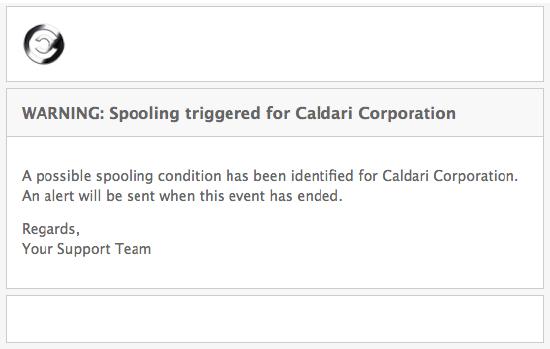 Spooling Alert Fail - Spambrella